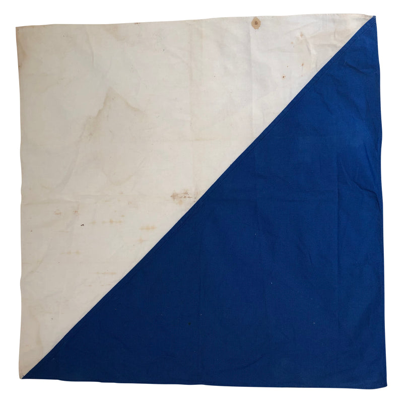 Vintage Blue and White Flag