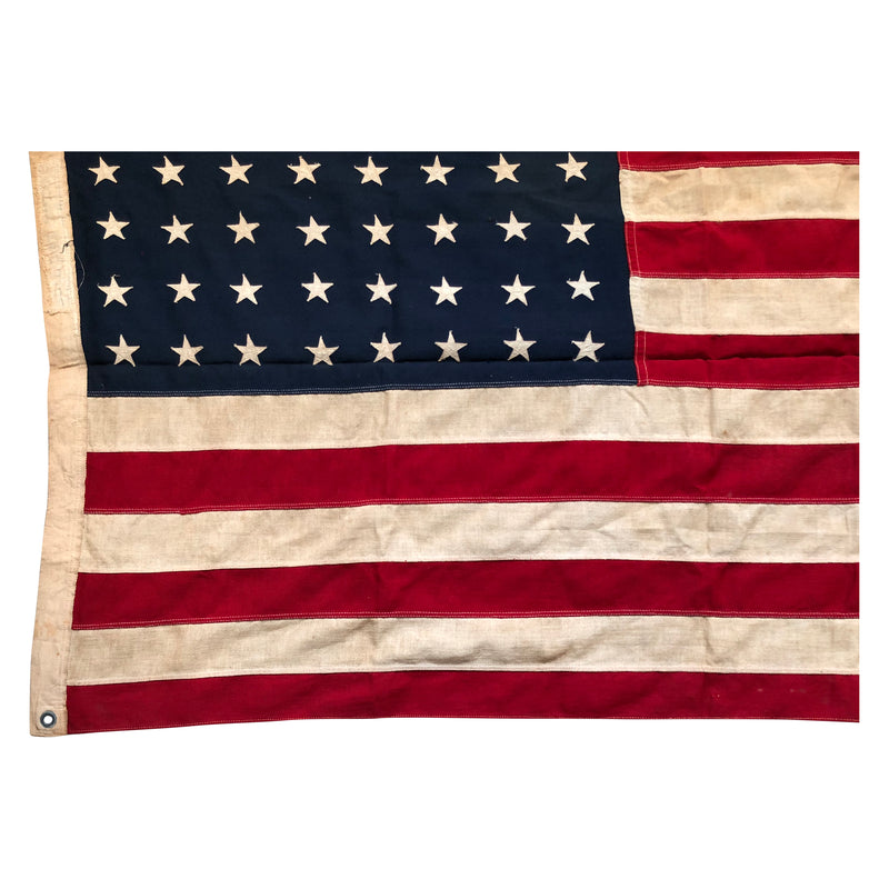 48 Star Flag, Vintage American Flag with Sewn Stars and Stripes