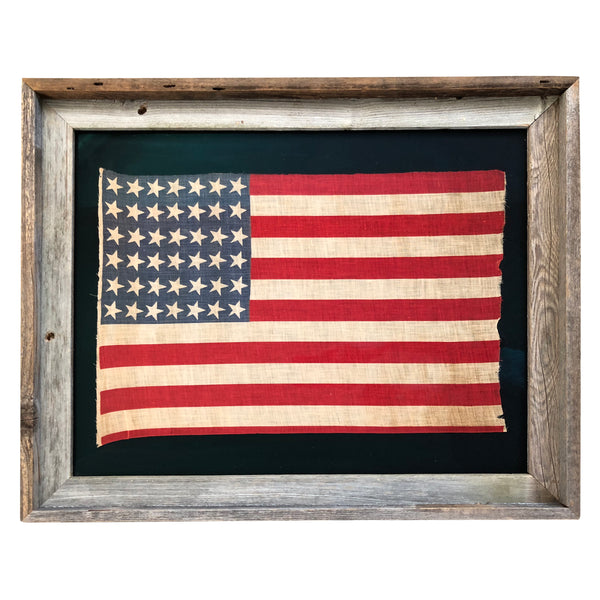 42 Star Flag, Antique Vintage American Flag - Washington 1889-1890