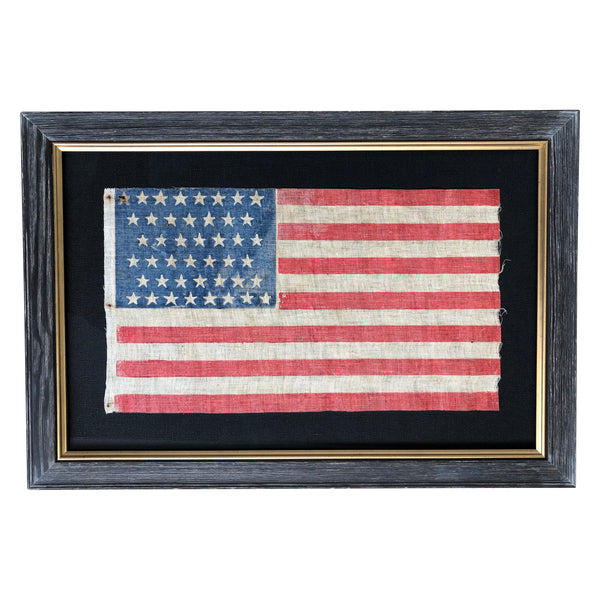 44 Star Flag - Antique Vintage American Flag - Staggered Pattern 1891-1896