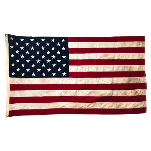 Vintage 50 Star Flag with Sewn Stars and Stripes - Storm King
