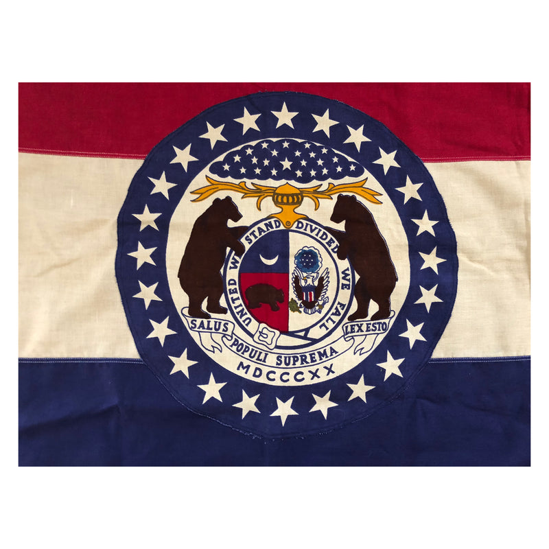 Vintage Missouri State Flag by Annin & Co. -  Cotton Bunting
