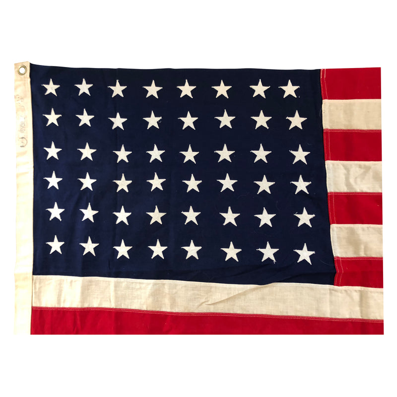 48 Star Flag - Vintage American Flag Cotton Bunting