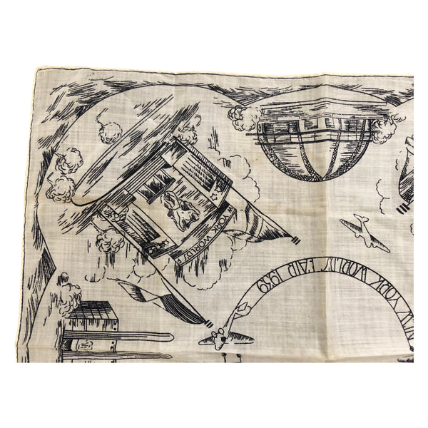 1939 New York World's Fair Souvenir Handkerchief