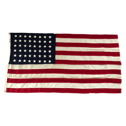 48 Star Flag - Vintage Antique American Flag - All Wool Bunting