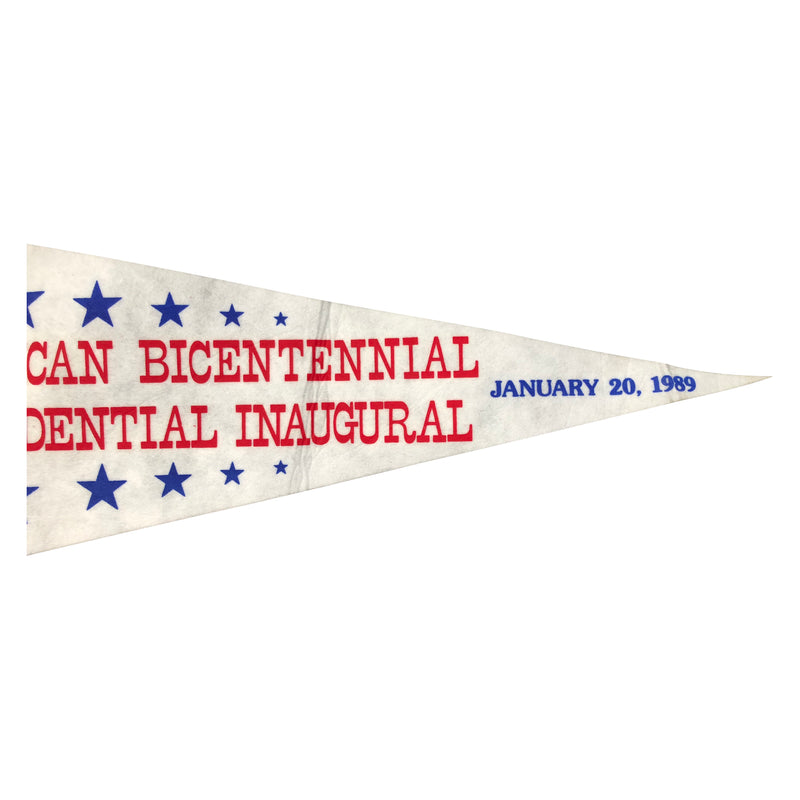 Vintage George Bush and Dan Quayle President Inaugural Pennant Banner
