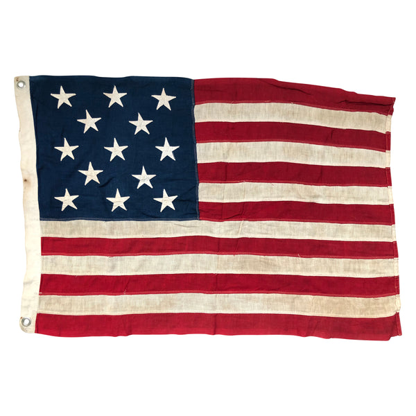 Vintage Antique American 13 Star Flag
