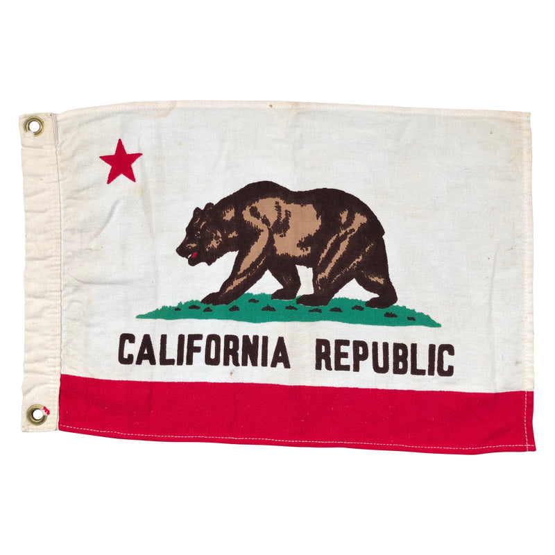 Vintage California Republic Bear Flag, Small Boat Flag