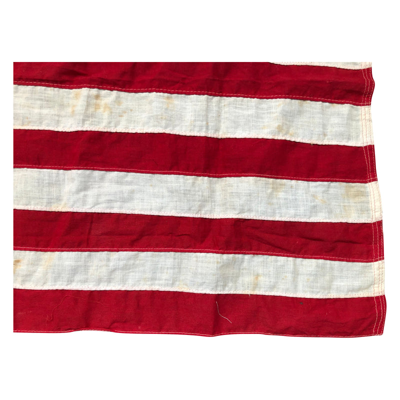 Vintage Antique Yacht Ensign US Flag - 13 Sewn Star Anchor & Stripes