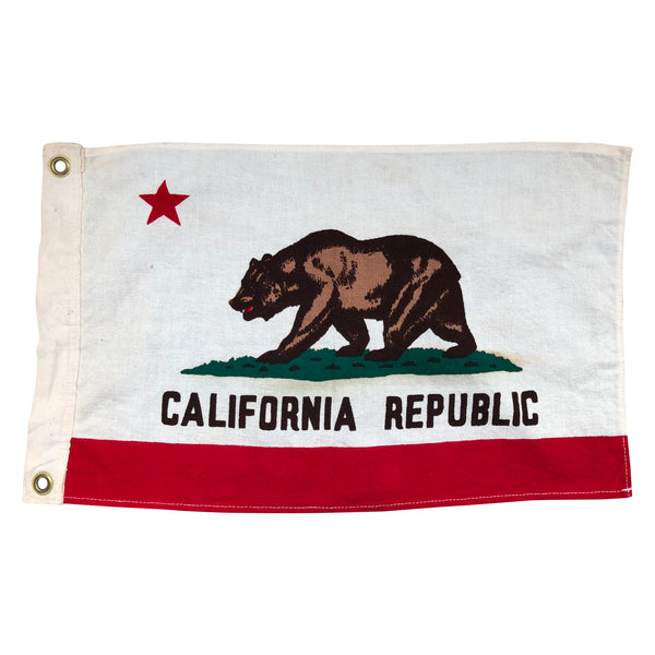 Vintage California Republic Bear Flag, Boat Flag