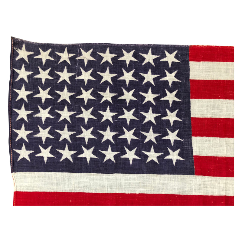 Vintage Antique 48 Star Flag - Unusual Star positioning