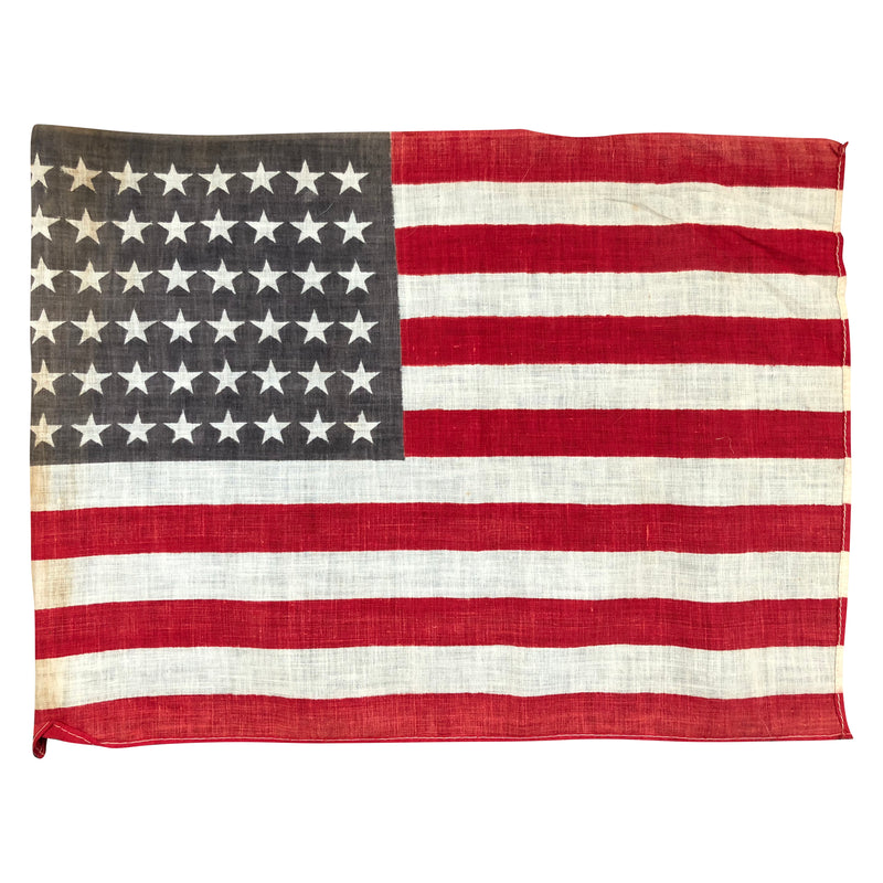 48 Star Flag - Antique Vintage American Flag