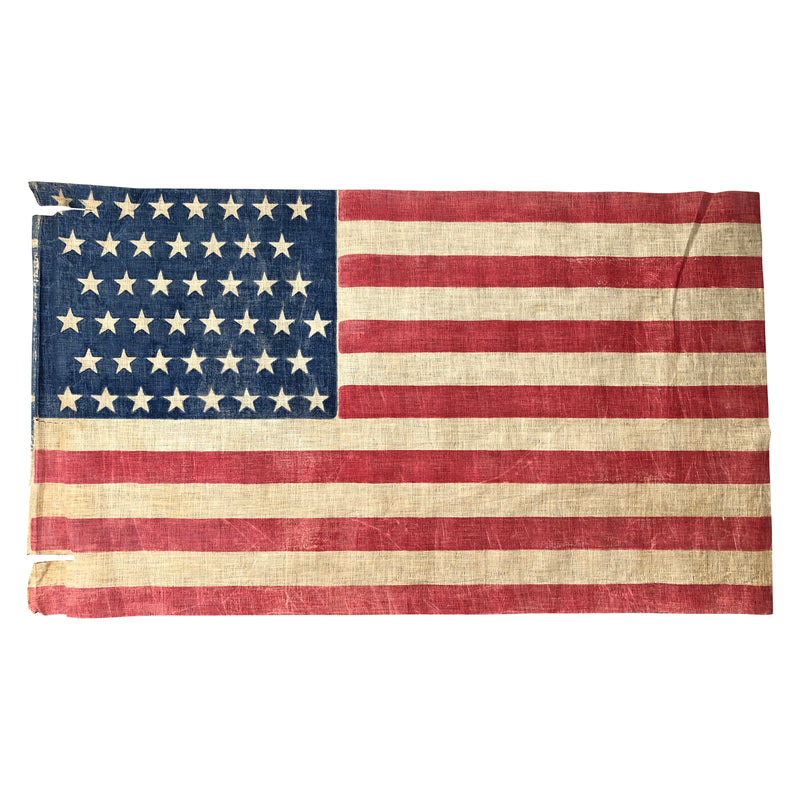 45 Star Flag, Vintage American Parade Flag Medium Size
