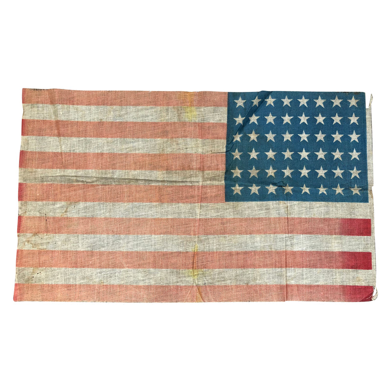 48 Star Flag - Antique Vintage American Parade Flag