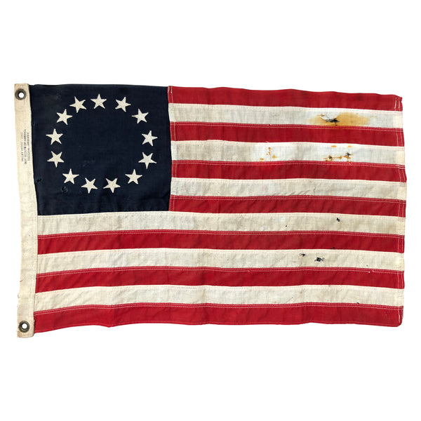 13 Star Flag - Sewn Stars and Stripes 1950 Valley Forge Boy Scouts of American