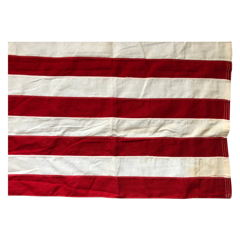 Vintage Yacht Ensign US Flag  - 13 Sewn Star & Stripes - Bull Dog Bunting