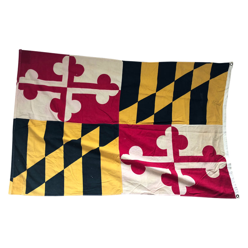 Vintage Maryland Defiance Cotton Flag