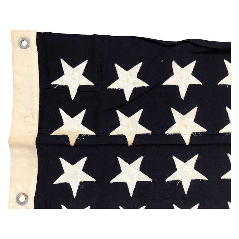 48 Star WWII US Navy Union Jack No. 9 Flag - Mare Island Flag 1944