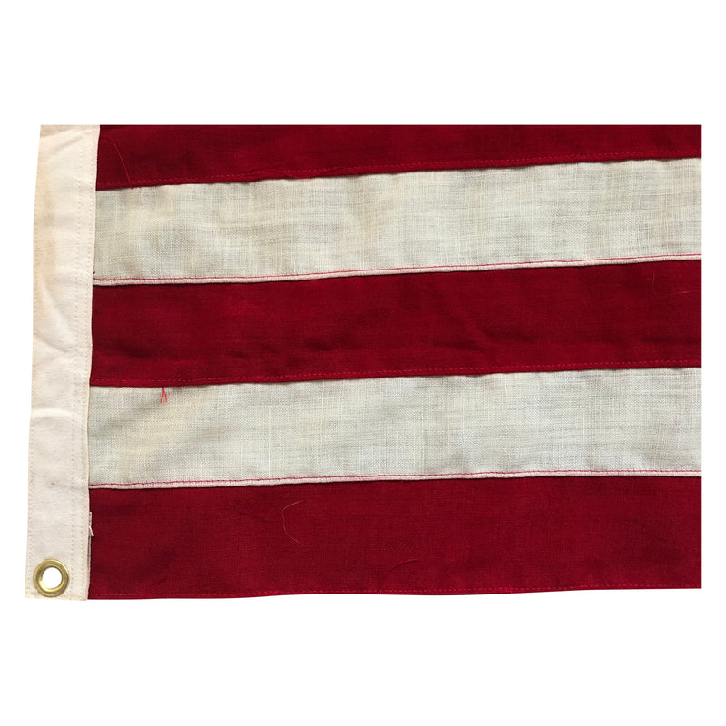 Vintage Antique Yacht Ensign US Flag - 13 Sewn Stars & Stripes - All Wool