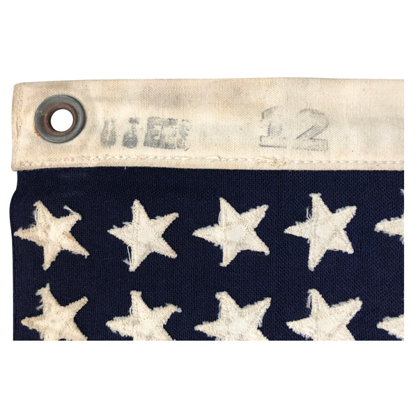Original WWII US Ensign NO. 12 - 48 Star Flag - PT Boat Size - Wool Bunting