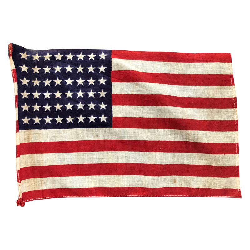 48 Star Flag, Small Size Vintage American 48 Star Flag