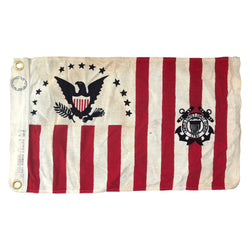 Vintage U.S. Coast Guard Ensign Flag No. 5 1915-1953