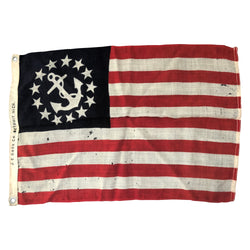 Vintage Antique US Yacht Ensign Flag