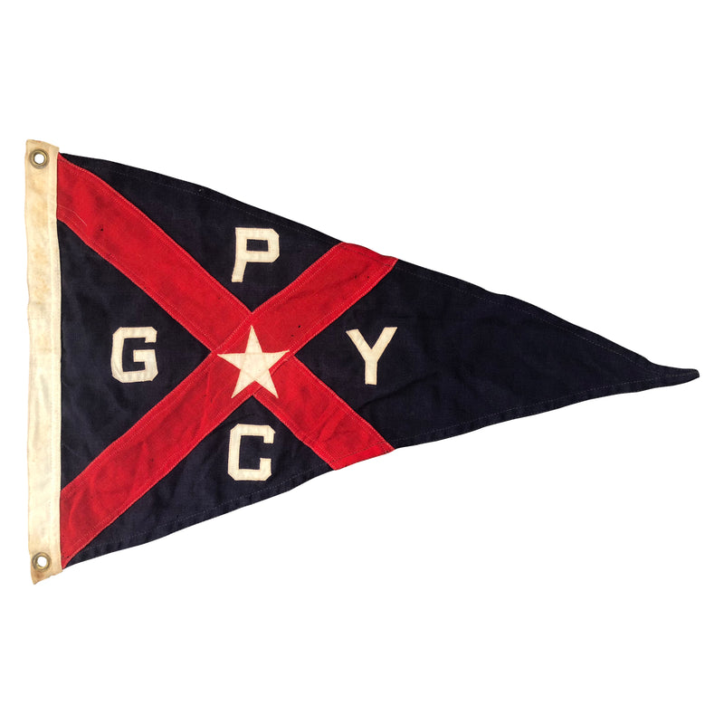 Grosse Pointe Yacht Club Burgee Pennant Flag - Wool