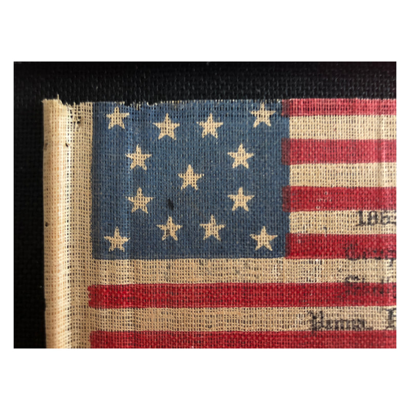 Antique Vintage US Flag 13 Star Flag - C. 1913 GAR Flag