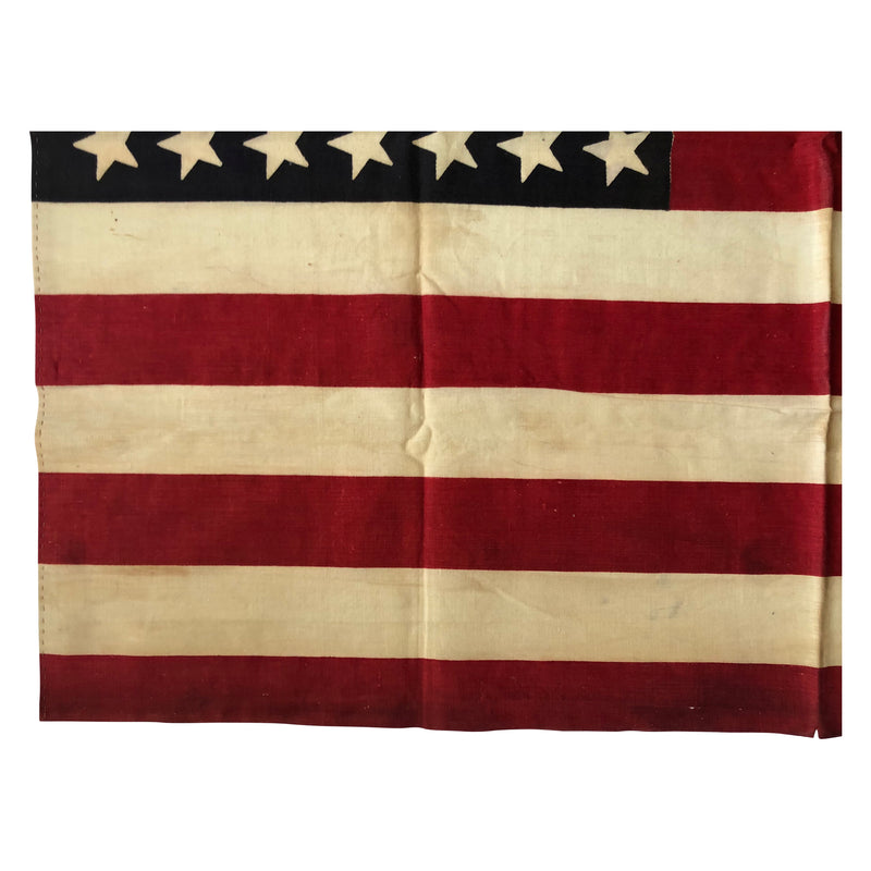 Vintage 42 Star American Parade Flag - Tilted and Staggered Star Formation