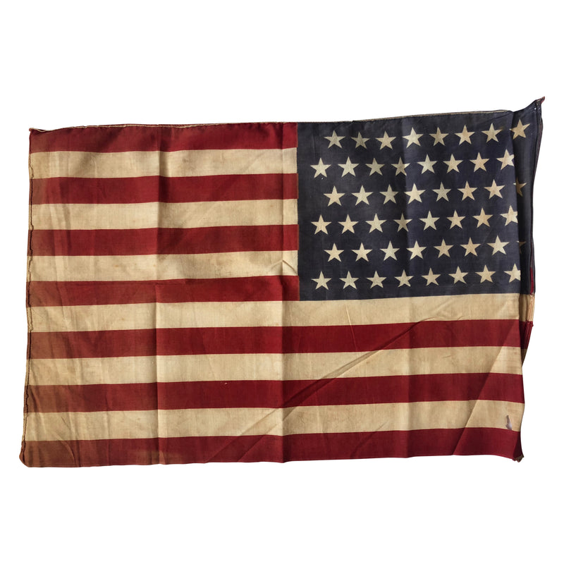 48 Star Flag - Vintage Antique American Flag - WWI ERA Flag