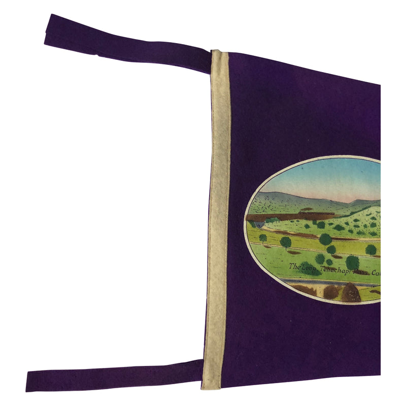 Vintage California Pennant - Felt The Loop, Tehachapi Pass California