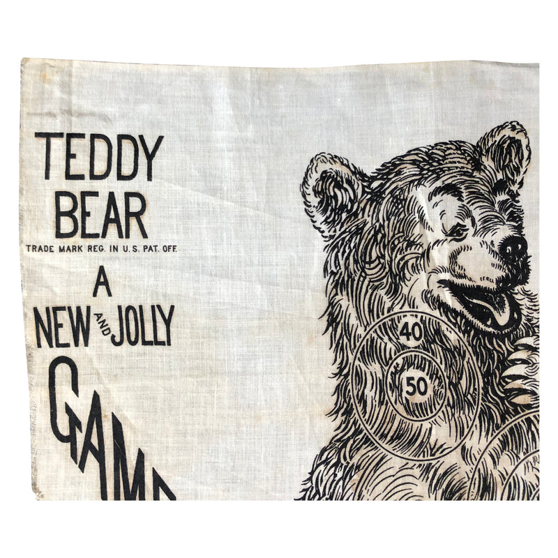 Vintage 1906 Who can Kill Teddy Bear Game Banner - Theodore Roosevelt