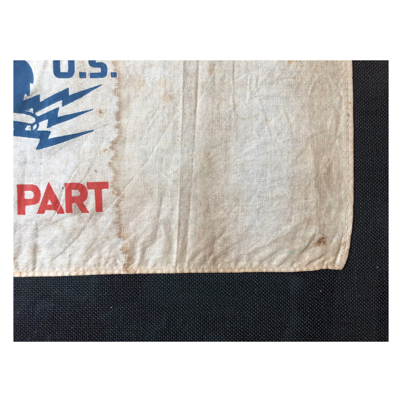 Original 1930's NRA We Do Our Part Street Flag National Recovery Act
