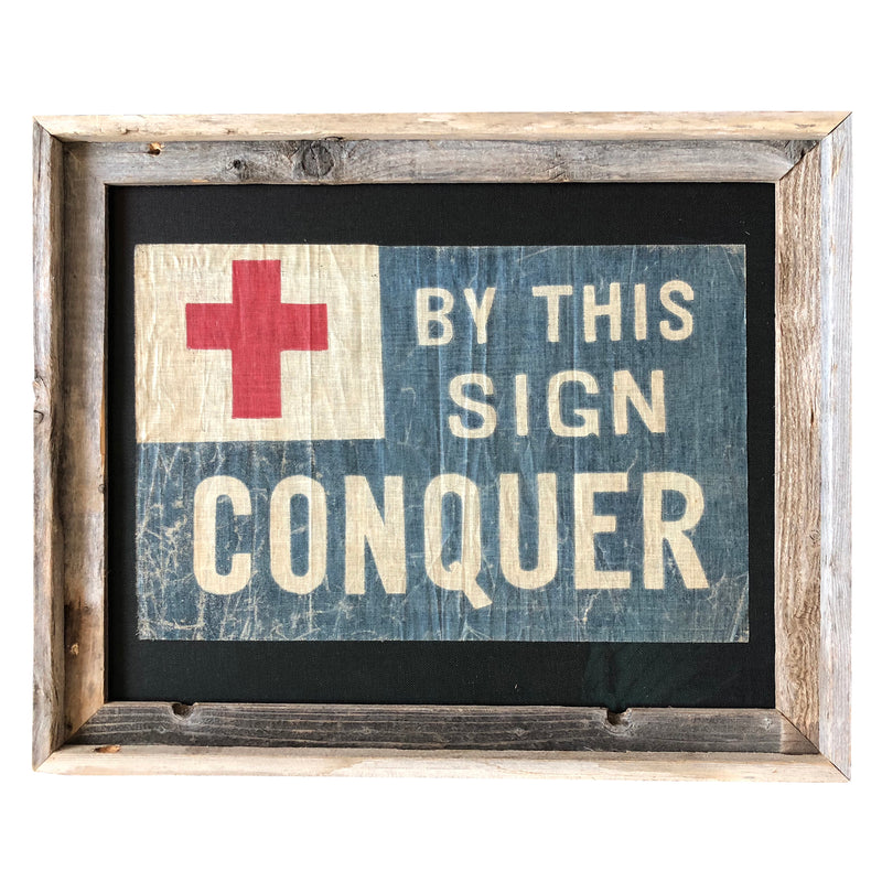 Vintage Christian Study School Flag - By This Sign Conquer