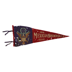 1916 Mexican Border Service Texas Pennant