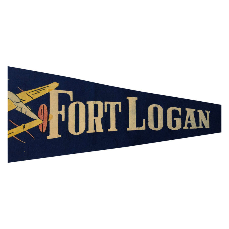 Vintage WWII Fort Logan Pennant