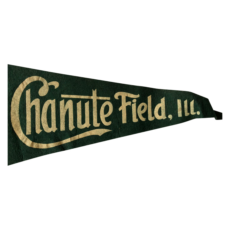1945 US Army Air Force Chanute Field IL WWII Pennant