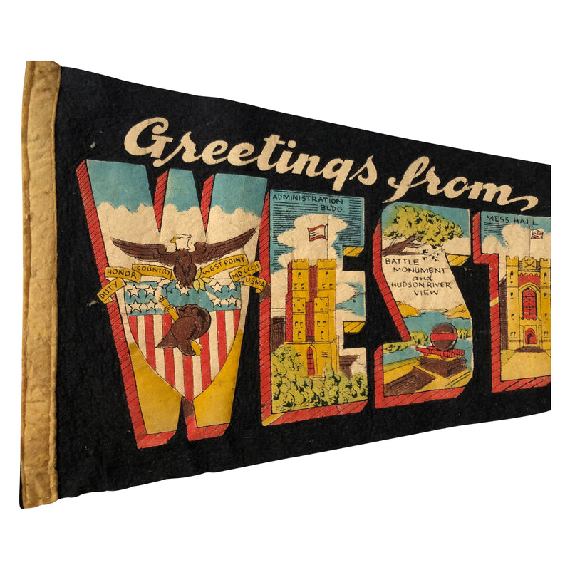 Vintage Greetings From West Point Pennant