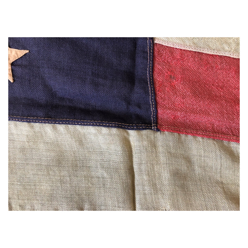 Vintage Antique 45 Star Flag - Sewn Stars and Stripes Wool Flag
