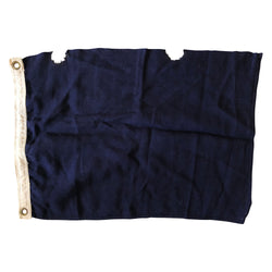 Vintage Navy Blue Flag