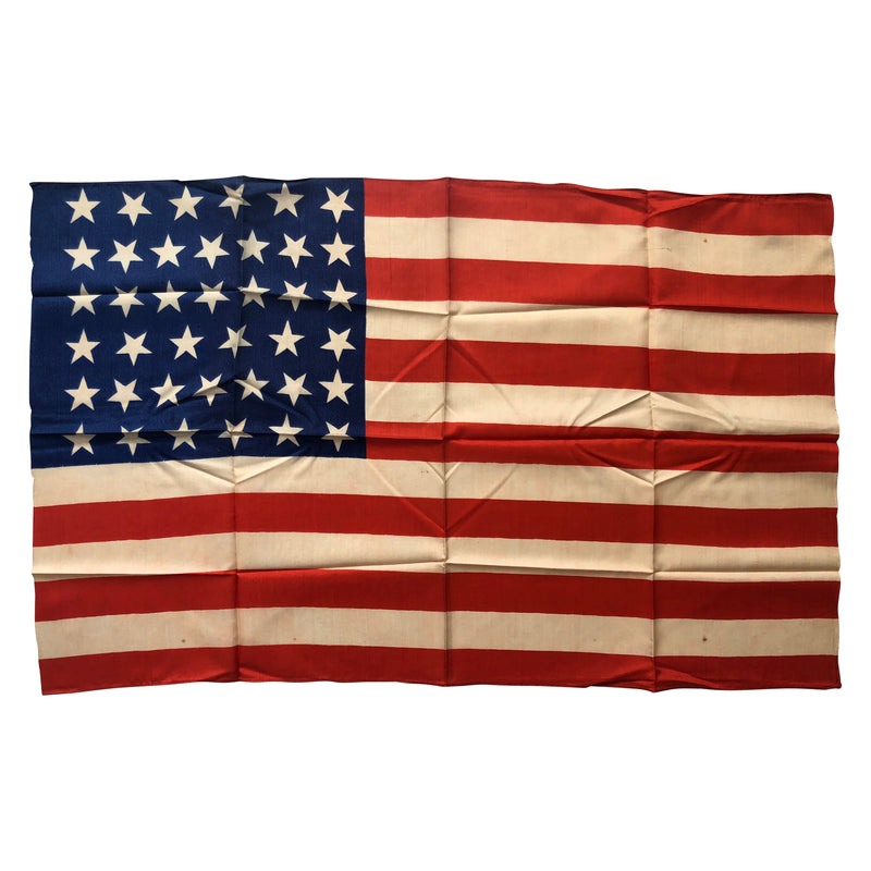 Vintage Antique Silk 39 Star Flag -