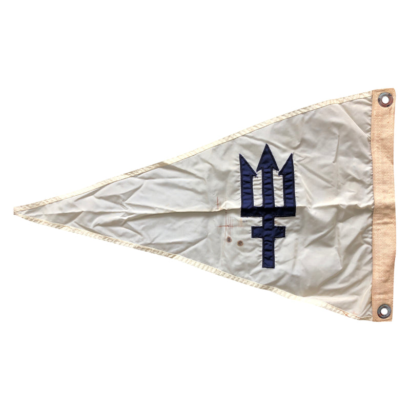 Nautical Ship Boat Pennant Flag Neptune Trident Symbol
