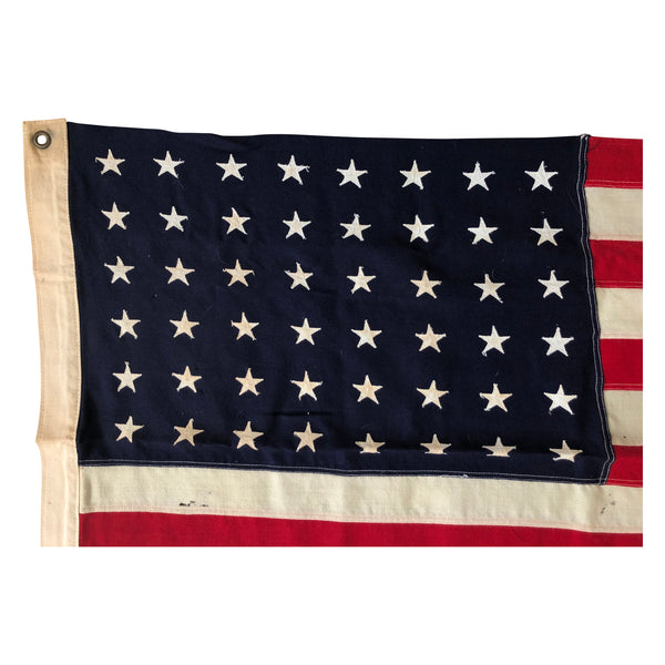 48 Star Flag - Vintage American Flag - Wool Material with Sewn Stars and Stripes