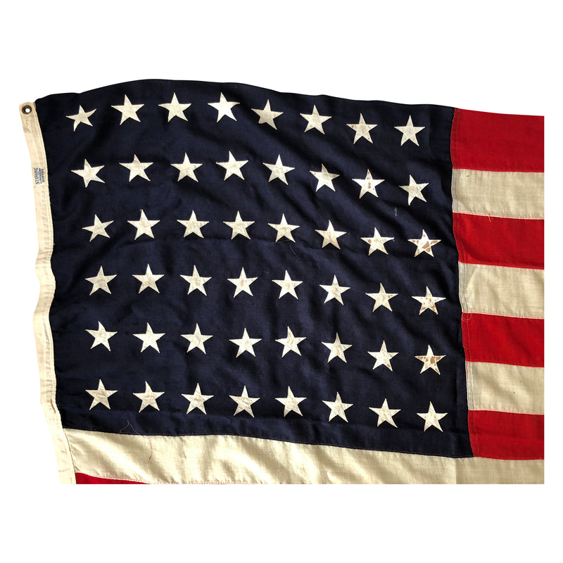 48 Star Flag Sterling All Wool Bunting - Large Size Sewn Stars & Stripes