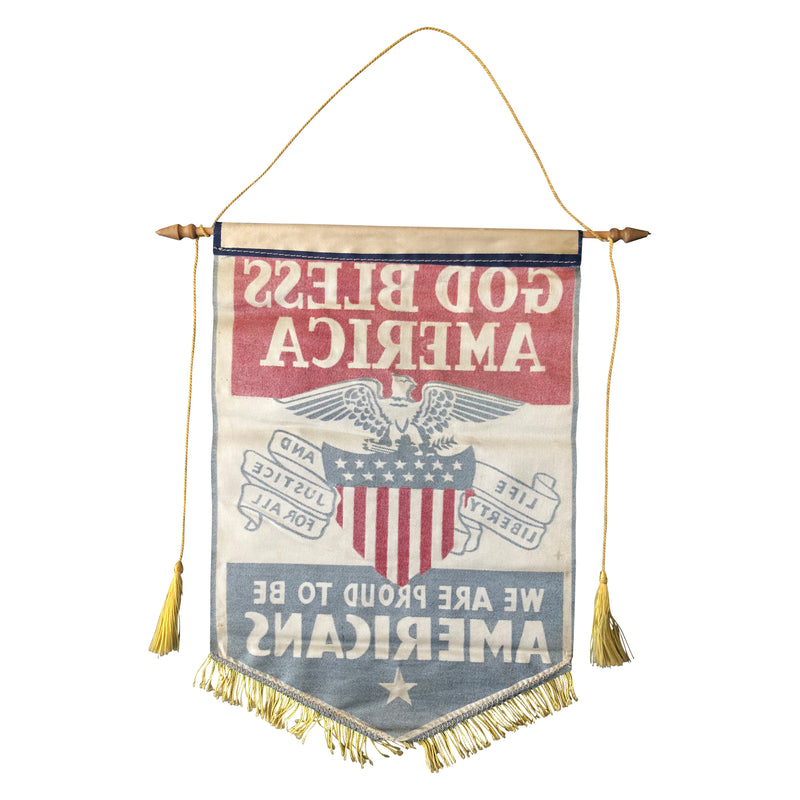 1940's WWII Era God Bless America Banner