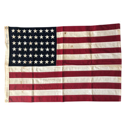 Vintage 48 Star Flag - Storm King 2' x 3' - Sewn Stars and Stripes