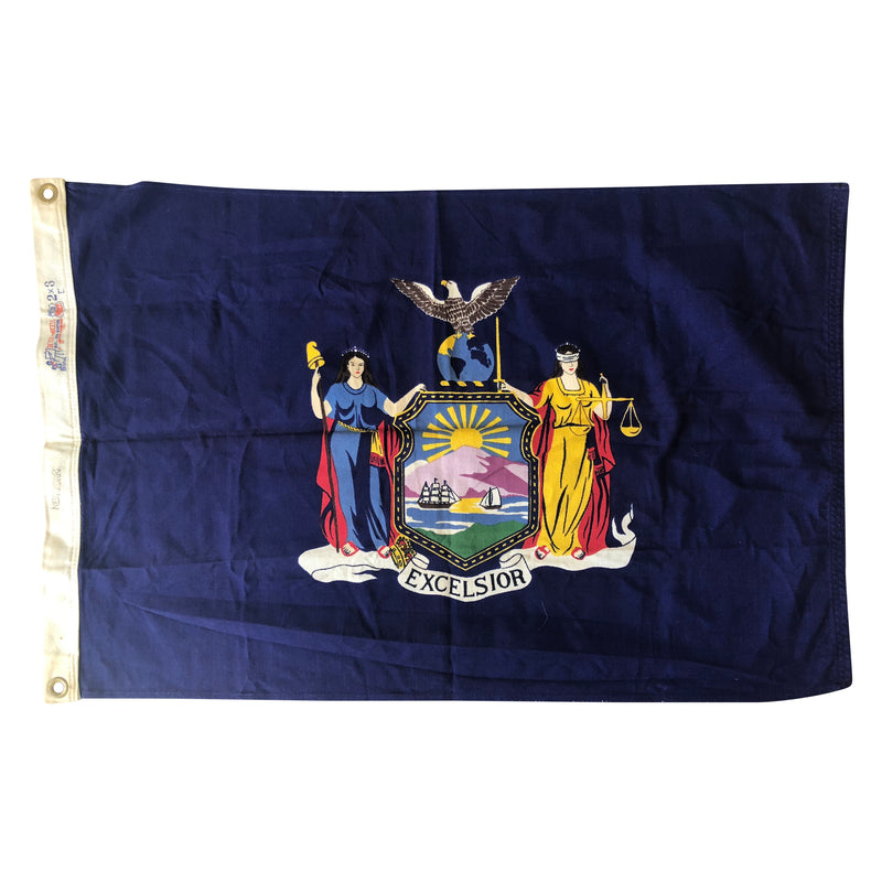Vintage New York Flag - By Bull Dog Bunting