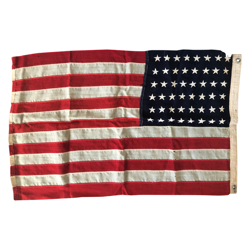 Vintage 48 Star Flag - Wool Flag with Sewn Stars and Stripes