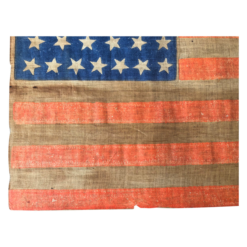 Antique Vintage 38 Star Flag - Scattered Positioning Parade Flag, Colorado Statehood
